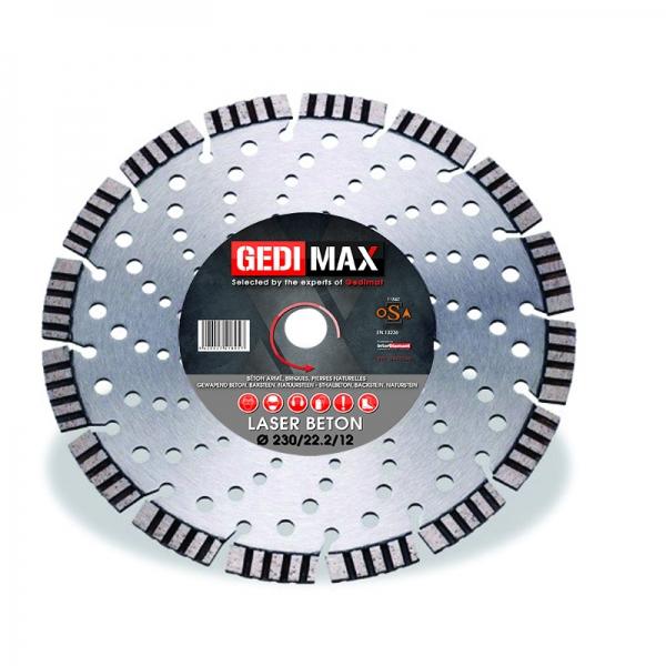 Disque Gedimax Laser Beton